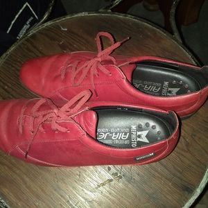 Mephisto Red Leather Shoes